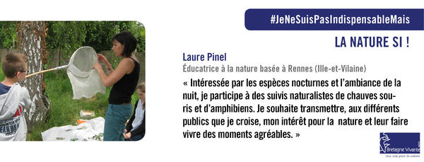 Laure Pinel, éducatrice à la nature